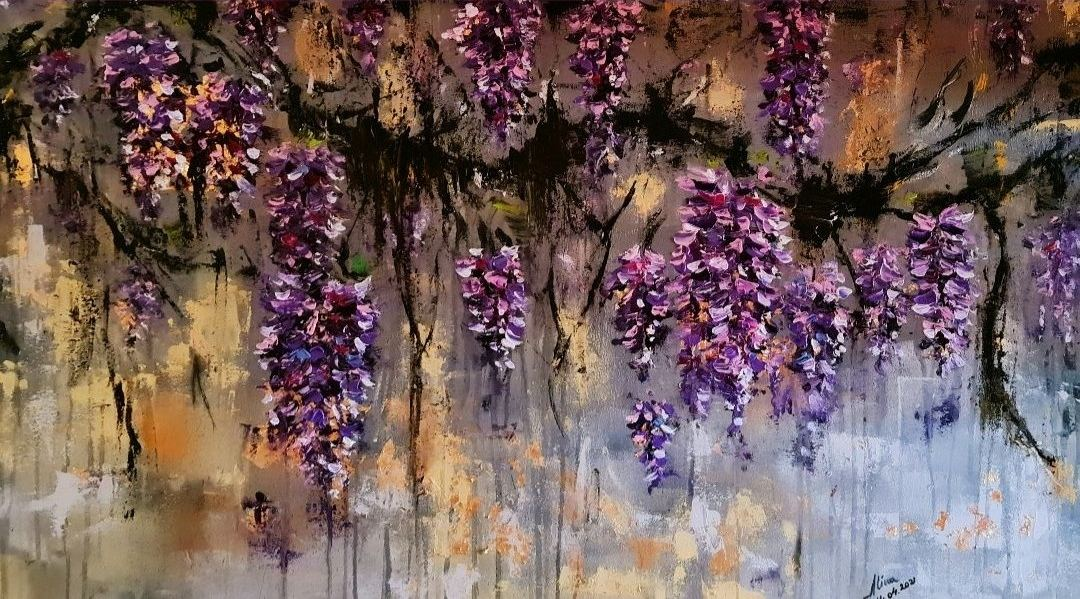ArteDiAlina.com painting: time of wisteria